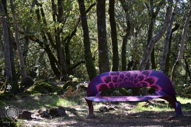 Pop of Purple Painted Propane tank